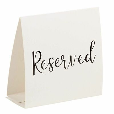 Table Cards For Weddings (50 pcs Reserved Table Signs Tent Cards for Wedding Birthday Party Supplies)