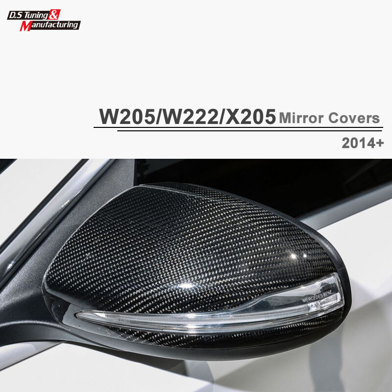 Carbon Fiber Side Mirror Cover Replace For Mercedes Benz C-Class W205 2015+