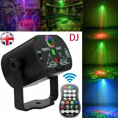 90 Pattern Mini LED Stage Lighting RGB Laser Projector Disco Party Club DJ Light