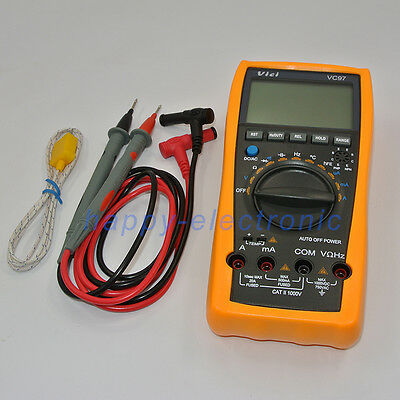 New Vici Vc99 3 6 7 Auto Range Digital Multimeter With Bag Fluke Lead