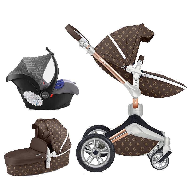 Hot mom Baby Stroller 3 in1 travel Bassinet Combo Pushchair
