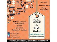 The Fox Vintage & Craft Market, Hanwell
