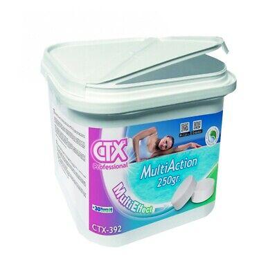 Cloro Multiaccion Tabletas 250g Para Piscinas. Astralpool CTX-392 CTX-393. 5 Kg