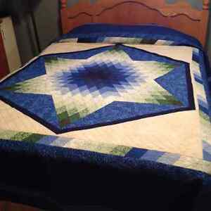 Lone Star queen size quilt