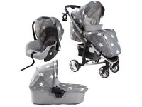 My Babiie 3 in 1 travel system - car seat, pram and buggy