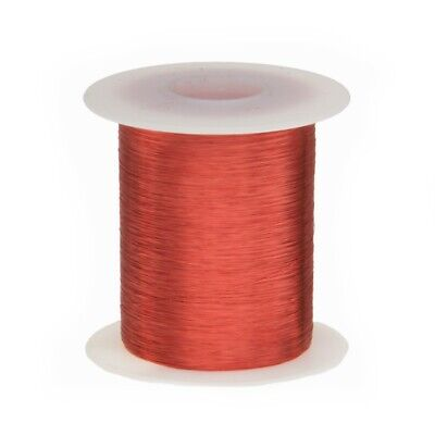 40 Awg Gauge Heavy Copper Magnet Wire 2 Oz 3993 Length 0.0038 155c Red