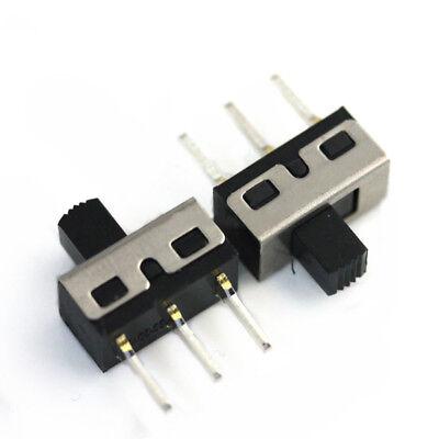 10pcs 4.7mm 2a 125v Spdt 1p2t 2 Position 3 Pin Slide Switch 5mm Shaft Straight