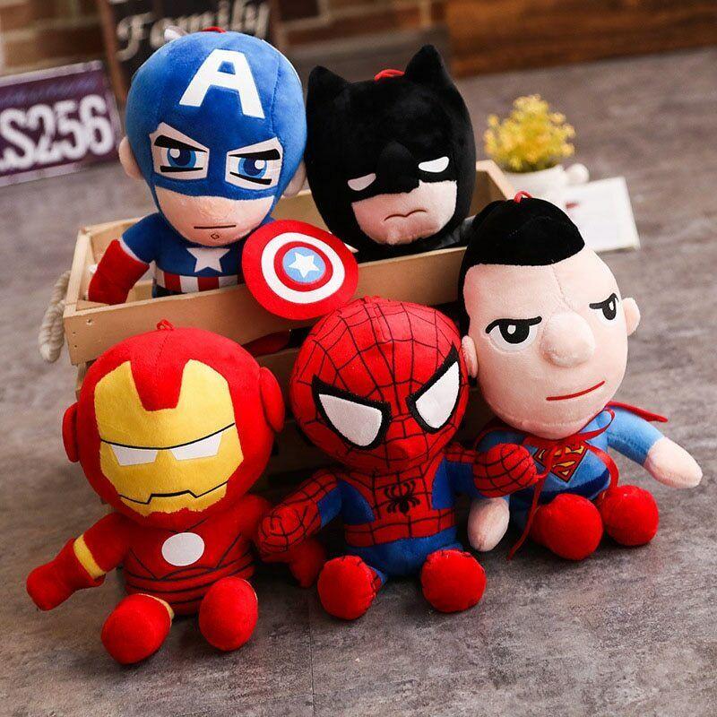 Soft Stuffed Super Hero Avengers Captain America Iron Man Plush Toys Spiderman Toys & Hobbies