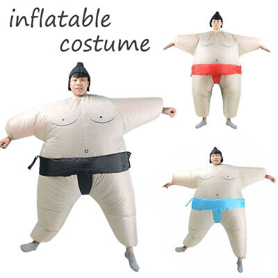 Kid Adult Sumo Wrestler Costume Inflatable Blow Up Party Outfit Cosplay Dress  - Kid Sumo Wrestler Costume
