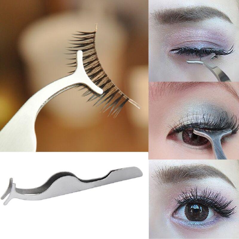 False Eyelash Applicator Tweezer Cosmetic Tool Clip Eye Lashes