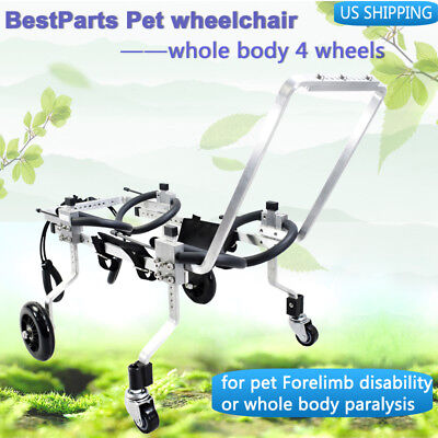 BestParts 10 Types 4wheels Pet/Dog Wheelchair for Handicapped hind/fore Legs Dog