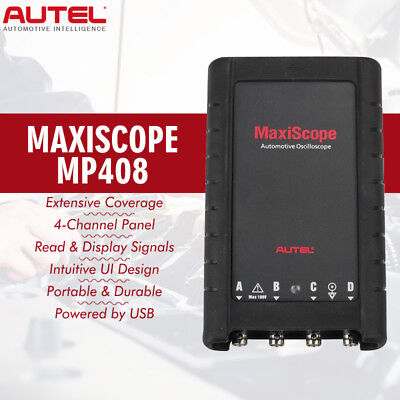 AUTEL MaxiScope MP408 Electrical Signals 4 Channel Automotive Oscilloscope Kit
