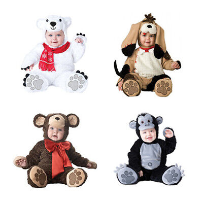 Baby Girls Boys Monkey Animal Halloween Fancy Dress Costume White Suit Outfit](Boys Monkey Costume)