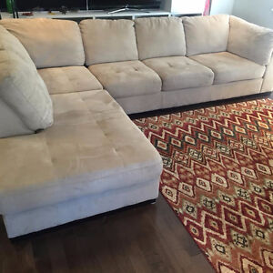 Microsuede L Shape Sectional