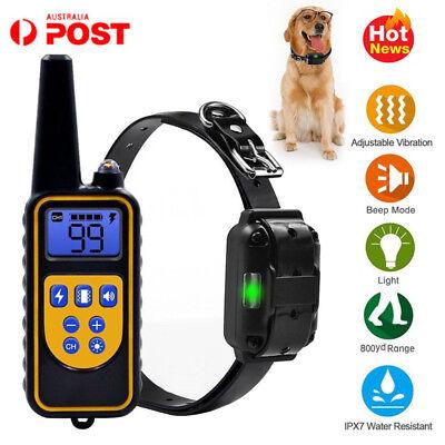 Anti Bark Dog Collar Remote Waterproof Electric For Large 875 Yard Pet Training
