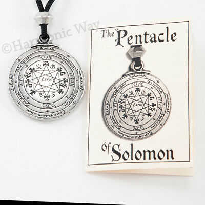 Pentacle of SOLOMON Necklace Amulet seal of Solomon Talisman Pendant 2 sided