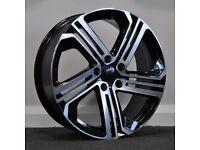 "18"" R400 Style Alloy Wheels & Tyres.Suit Audi A3,Volkswagen Caddy,Golf,Jetta,Passat,Seat Leon 5x112"