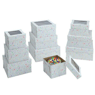 Party Print Cake Box with Window, 2 piece set