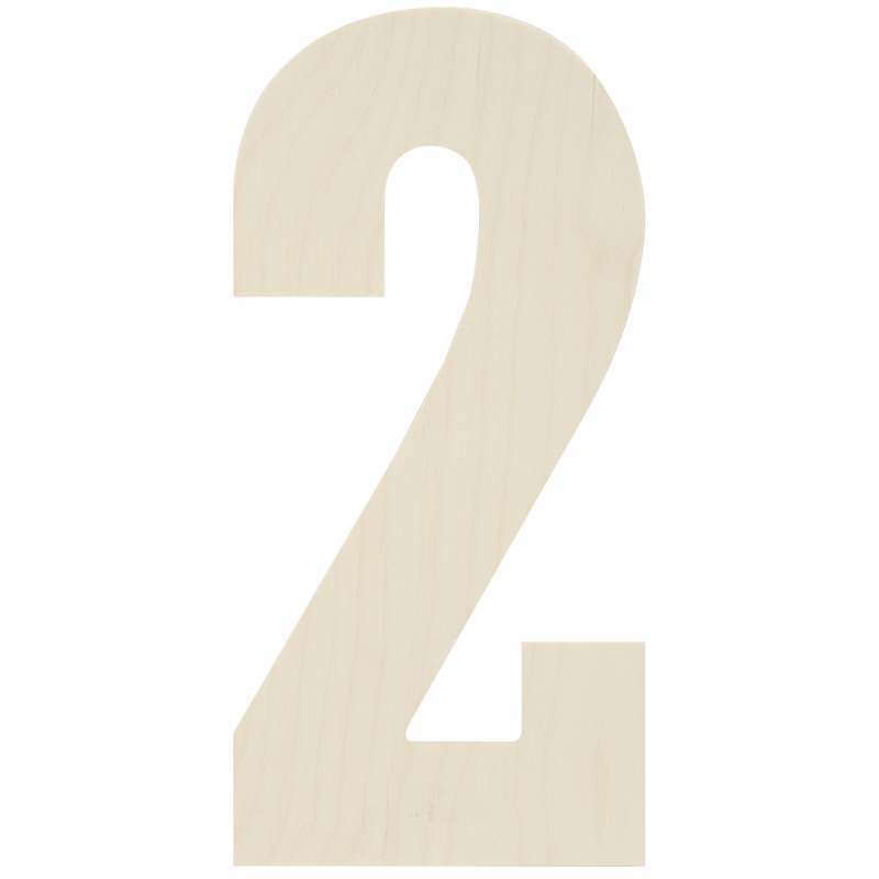 """Baltic Birch Collegiate Font Letters & Numbers 13.5"""" 2 886946096921"""