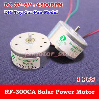 Dc3v 5v 6v 4500rpm Mini Rf-300ca Solar Power Motor Small Round Toy Motor Diy Fan