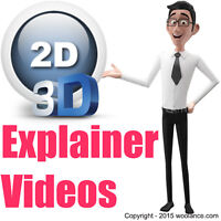 2D/3D animation video for YouTube, Adverts & more...