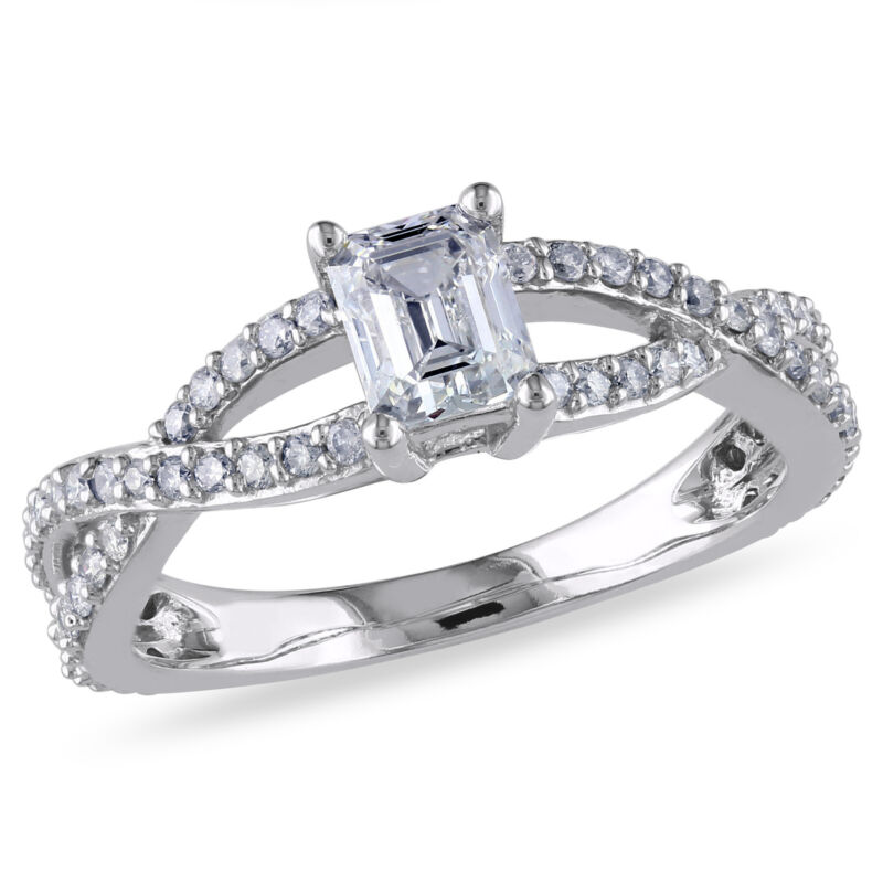Amour 1 Ct Tw Diamond Infinity Engagement Ring In 14k White Gold