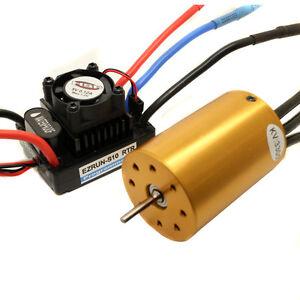 RC HSP 107051 Brushless Motor Gold 540 3300KV & Waterproof ESC 60A 2-3S Lipo