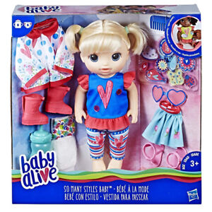 NEW Baby Alive So Many Styles Baby (Blonde Straight Hair) doll