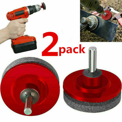 2pcs Universal Lawn Mower Faster Blade Sharpener Grinding Power Drill Garden Kit