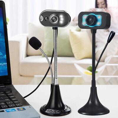 LED HD Webcam Desktop PC Computer Video USB Microphone Night Vision HD Camera