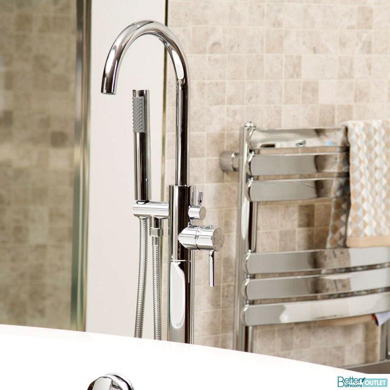 Freestanding Bathroom Tap Bath Shower Mixer Chrome Free