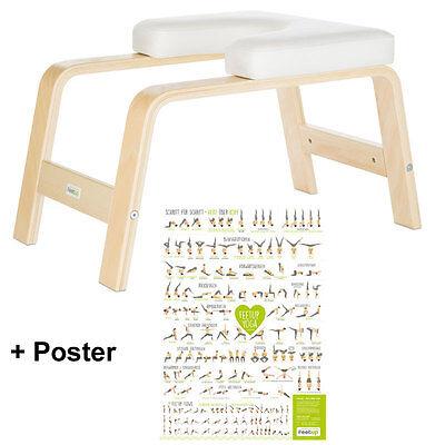 Kopfstand-Hocker feet up  Kopfstandstuhl Yogahocker Yogastuhl + Poster