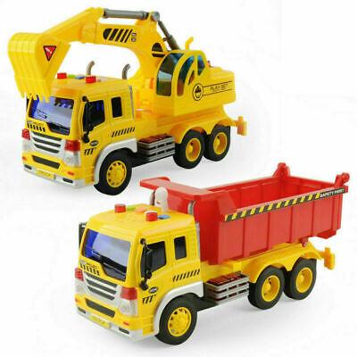 Car Toys For Kids (2pcs Large Excavator Dump Truck Engineering Construction Cars Vehicle Kids)