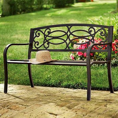 Classic Garden Outdoor Metal Bench 3 Seater Park School Kids Adult Bench Seat