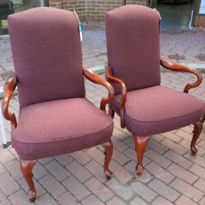 Red chairs in good condition for only $25 each