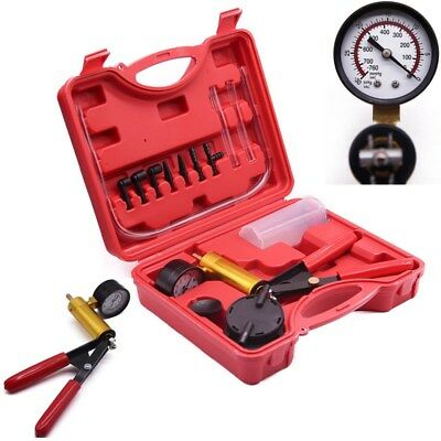 Car Auto Hand Held Vacuum Pressure Pump Tester Set Brake Bleeding Gauge Test Kit