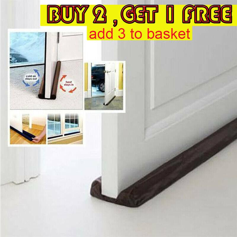 Door Bottom Sealing Strip Guard Stopper Protect Wind Dust Blocker Stop Flexible Building & Hardware