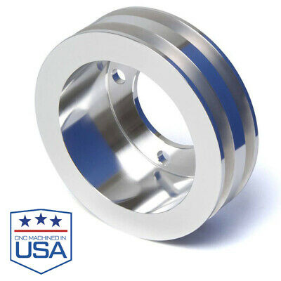 Small Block Ford Crank Pulley SBF 289 302 351W 351C  2 Groove 4 Bolt Dampener -