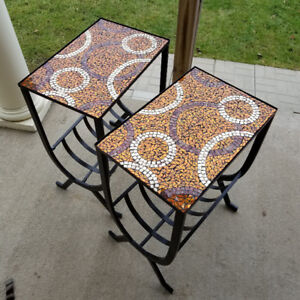Glass Mosaic End Tables