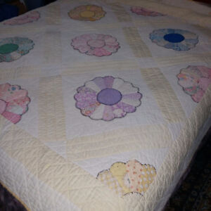 LOVELY PAIR OF ANTIQUE HANDMADE QUILTS