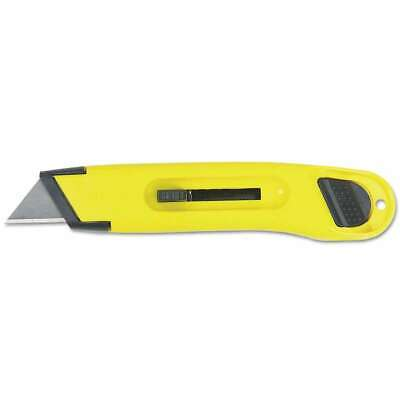 Stanley® Plastic Light-Duty Utility Knife w/Retractable Blade, Ye 076174100655