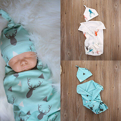 Toddler Kids Newborn Baby Boys Girls Stretch Wrap Swaddle Blanket Bath Towel US