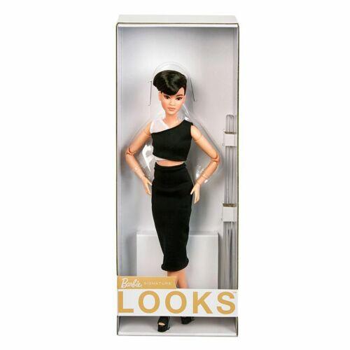 2021 Barbie Signature ASIAN Looks Doll Petite Black PIXIE CUT HAIR