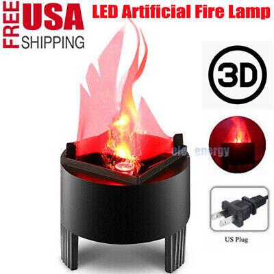 USA LED Artificial Fire Lamp Fake Flame 3D Fire Campfire Centerpiece Torch Light](Campfire Centerpiece)