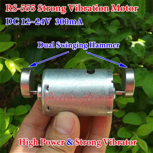 DC 12V 24V Double Head RS-555 Strong Vibration Vibrator Motor DIY Toy Massager