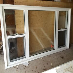 Two White Vinyl Picture Windows For Sale- Excellent Condition