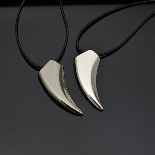 Hot Women Men/'s Titanium steel Necklace Tribal Spear Wolf Canine Tooth Pendant