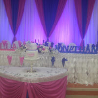 Wedding decor,BACKDROP,Free Love seat Chiavari Chairs,Rent,