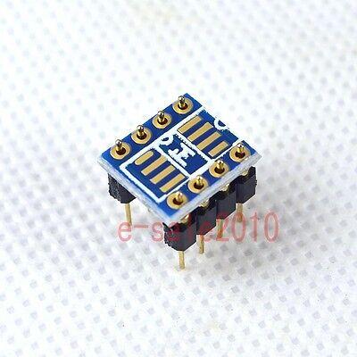 2pcs Dual Soic8 Sop8 To Dip8 Adapter Converter Pcbpin To Mono Opamp Opa627 P10