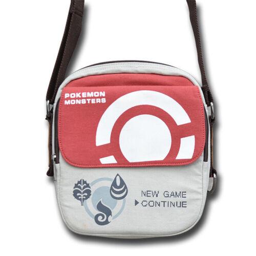 Anime Pokemon Poke Ball Boys School Bag Girls Canvas Shoulder Messenger Bag Gift